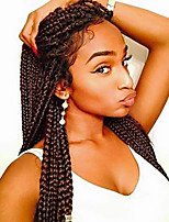 Box Braids / Crochet Twist Braids Hair Extensions 24Inch Kanekalon 12 Strand 90g gram Hair Braids Medium Brown