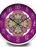 Beautiful Purple Totem Home Furnishing Quartz Metal Wall Clock