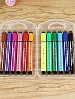 Marcadores y Resaltadores Plumas del color de agua,Plástico Rojo / Negro / Azul / Amarillo / Morado / Naranja / Verde