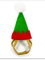 Gatti / Cani Costumi / Bandane e berretti Rosso / Verde Inverno / Estate / Primavera/Autunno Natale Halloween / Natale