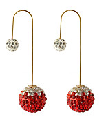 Multicolor Grind Arenaceous Double Gradient Color Shiny Crystal Ball Earrings