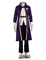 Inspired by Fairy Tail Gray Fullbuster Anime Cosplay Costumes Cosplay Suits Color Block White / Purple Long SleeveCoat / Top / Pants /