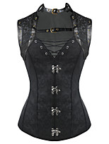 Shaperdiva Women's 10 Steel Boned Gothic Steampunk Corset Tops