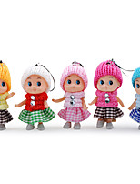 Plush Toy Lattice Skirt 8CM Clown Doll Jewelry Mobile Phone Rope Creative Small Gift