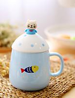 1pc 350ml tasse en céramique authentique thé marque tasse créative verre de lait tasse de café couleur aléatoire