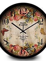 Creative Personality Bedroom Retro Silent Metal Quartz Wall Clock