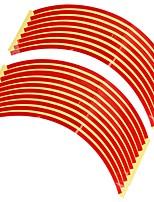 set 8 millimetri macchina rossa cerchione nastro adesivo riflettente striscia decalcomania
