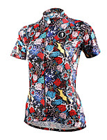 Cycling Tops / Jerseys Women's Bike Moisture Permeability / Quick Dry / Sweat-wicking Short Sleeve Stretchy Coolmax Floral / Botanical