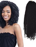 Havana / Encaracolado / excêntrico Afro Kinky Tranças Extensões de cabelo 17 Kanikalon 1 costa 100g grama Tranças de cabelo