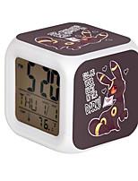 Cartoon Pet Colorful Luminous Alarm Clock-6#