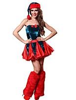 YUIYE® Sexy Red Christmas Skirt Set Women Waist Corset with Christmas Hat and Leg Sets