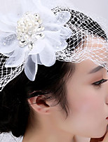 여성 라인석 / 명주그물 / Net 투구-웨딩 / 특별한날 / 캐쥬얼 / 야외 파시네이터 1개