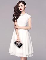 BOMOVO® Women's Round Neck Short Sleeve Midi Dress-B16XAM5