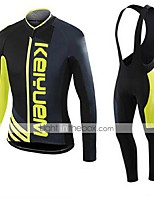 KEIYUEM® Winter Thermal fleece Long Sleeve Cycling Jersey+Long Bib Tights Ropa Ciclismo Cycling Clothing Suits #W41