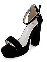 Women's Sandals Summer Sandals Fleece Casual Chunky Heel Buckle Black / Gray Others
