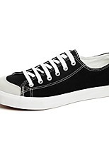 Men's Shoes Microfibre / Canvas Outdoor / Athletic / Casual Flats Outdoor / Athletic  Black / White