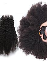 4 Piezas Kinky Curly Cabello humano teje Cabello Brasileño Cabello humano teje Kinky Curly