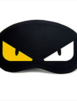 Travel Sleeping Eye Mask Type 0039 White And Yellow Devil Eyes
