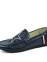 Men's Shoes PU Casual Flats Casual Walking Flat Heel Others Black / Blue / Khaki