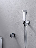 Bathroom/Toilet Portable Shattaf Bidet Shower Faucet, With Thermostatic Faucet Valve And 150 cm Stainless Steel Hose