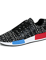 Men's Shoes Tulle Outdoor / Casual Flats Outdoor / Casual Walking Flat Heel Others / Lace-up Black / Blue / Red /