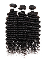 3 Peças Onda Profunda Tramas de cabelo humano Cabelo Malaio Tramas de cabelo humano Onda Profunda