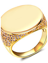 Cubic Zirconia / Copper / Platinum Plated / Gold Plated Ring Band Rings Wedding / Party / Daily / Casual / N/A 1pc