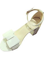 Women's Sandals Summer Sandals PU Casual Chunky Heel Buckle Purple / White / Gray Others