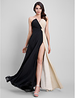 TS Couture® Formal Evening Dress Sheath / Column Strapless Floor-length Chiffon with Criss Cross
