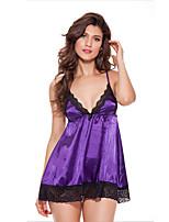 Women Lace Lingerie Nightwear,Polyester