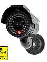 KingNEO301S Outdoor Solar Power Dummy Security Camera Simulated Surveillance Camera with Flash LED 1pc Black
