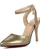 Chaussures Femme-Mariage / Habillé / Soirée & Evénement-Rose / Argent / Or-Talon Aiguille-Bout Pointu / A Bride Arrière-Sandales-