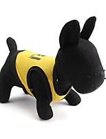 Gatos / Cães Camiseta Preto / Amarelo Verão Floral / Botânico Da Moda, Dog Clothes / Dog Clothing-Pething®