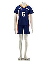 Inspirado por Haikyuu Ukai Keishin anime Cosplay Costumes Ternos de Cosplay Color Block Japonesa/Curta / Shorts