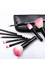 Black PU Leather Portable 9 Makeup Brush Set