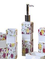 rose pattern Bathroom Five piece suit+Box