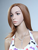 Capless Brown Color Middle High Quality Natural Straight Synthetic Wig