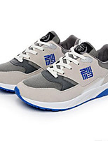 Men's Shoes PU Athletic Sneakers Athletic Sneaker Low Heel Lace-up Black / Blue / Gray