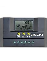 12v / 24v 30a contrôleur de lampe de rue de l'énergie solaire de l'écran à cristaux liquides intelligents