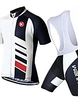 KEIYUEM® Summer Cycling Jersey Short Sleeves + BIB Shorts Ropa Ciclismo Cycling Clothing Suits #K104