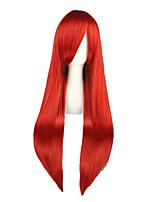 Perucas de Cosplay-Fairy Tail-Vermelho- com80