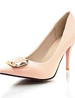 Mujer-Tacón Stiletto-Tacones / Puntiagudos-Tacones-Oficina y Trabajo / Casual-Cuero Patentado-Negro / Rosa / Beige