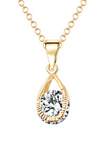 Dream Angel Crystal Teardrop-shaped Transparent Zircon Clavicle Chain Valentines Necklaces
