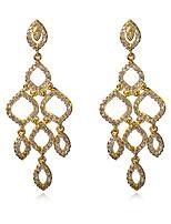 Forme Ovale,Bijoux 1 paire A la Mode Blanc / Cuivré Zircon / Cuivre / Platiné / Plaqué or Mariage / Soirée / Quotidien / Décontracté