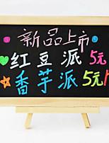 20 * 30cm tableau noir magnétique avec un petit berceau en bois pour les enfants