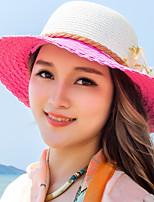 Fashion Summer Beach Travel Visor Dome UV Flowers Sunflowers Straw Hat