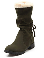 Women's Boots Spring / Summer / Fall Snow Boots Fleece Casual / Party & Evening / Dress Low Heel Others Black / Green / Gray