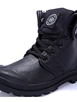 Women's Shoes PU Spring / Fall Combat Boots Oxfords Outdoor Wedge Heel  Black / White