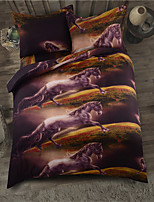 Galloping Horses 3D Bedding Sets 100% Polyester Queen/Double/King/Twin Size