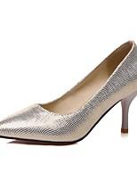 Women's Shoes PU Stiletto Heel Heels / Comfort / Pointed Toe Heels Outdoor / Office & Career / Dress Blue / Silver